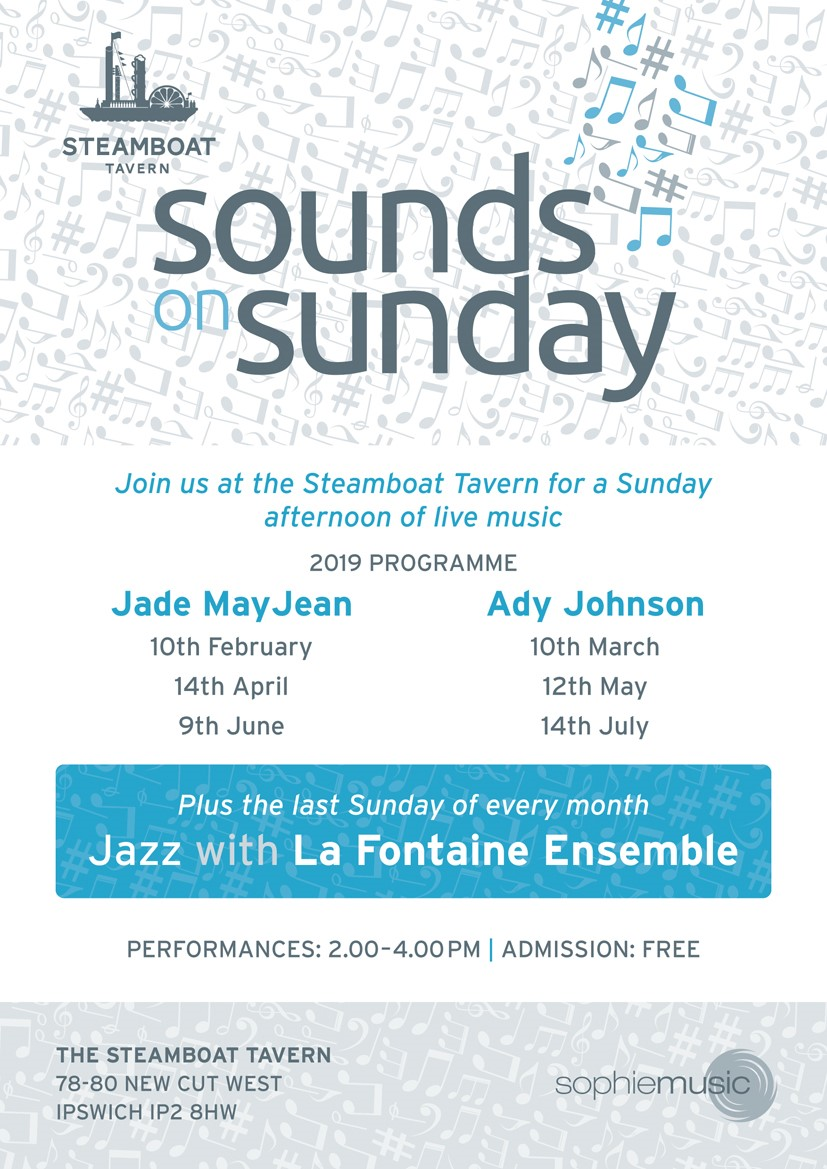 Ady Johnson » Sounds on Sunday at The Steamboat Tavern – Originals